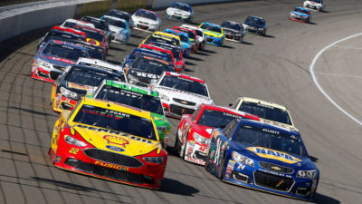 Ryan Blaney takes Talladega victory by inches over Stenhouse, Jr.